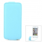 iFans 1450mAh Super-Thin Power Back Case w / Litschi-Muster PU-Leder Tasche für iPhone 4S / 4 - Blau