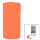 iFans 1450mAh Super-Thin Power Back Case w / Litschi-Muster PU-Leder Tasche für iPhone 4S / 4
