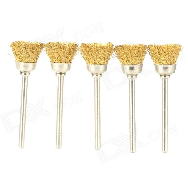Brass Wire Brushes Polishing Tips Set for Metal Jewelry - Golden + Silver (5 PCS) 1 set dental clinic composite porcelain polishing set material