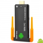 Dual-Antenna Quad-Core Android 4.2.2 Mini PC Google TV Player w/Bluetooth - Black+Transparent Orange