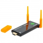 Dual-Antena Quad-Core Android 4.2.2 Mini PC Google TV Player con Bluetooth - Negro + naranja transparente