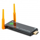 Dual-Antenna Quad-Core Android 4.2.2 Mini PC Google TV Player avec Bluetooth - Noir + Transparent Orange