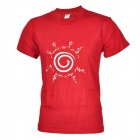 Men's Pure Cotton Short Sleeves T-shirt - Red (Size L)
