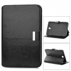 Protective PU Leather Case w/ Card Slots for Samsung N5100 - Black