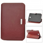 Protective PU Leather Flip Open Case w/ Card Slots for Samsung N5100 - Brown