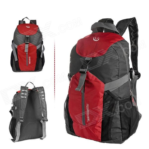 ROSWHEEL15614 Ultra Light Folding Outdoor Cylcing Backpack - Red + Grey