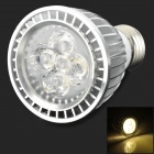 e5-lighting PAR20 E27 6W Non-dimmable WW 6W 420lm 3000K Warm White Light LED Spotlight - Silver