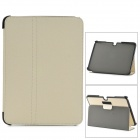 Protective PU Leather Slim Stand Smar Case for Samsung Galaxy Tab3 P5200  - Beige + Black