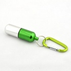 Large Aluminum Alloy Waterproof Cartridge Case - Silver + Green (8cm)