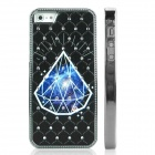 ENKAY Diamond Pattern Protective Plastic Back Case for Iphone 5 - Black + Blue + White