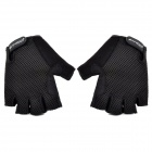 SAHOO 41214 Cycling Breathable Mesh Cloth Half Finger Glove - Black (XL)