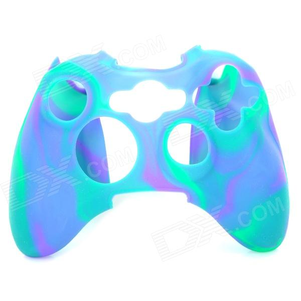 Protective Soft Silicone Case for XBOX360 Controller - Purple + Blue + Green protective silicone case for xbox one controller camouflage green