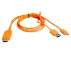 MHL Micro USB Male to HDMI Male Cable for Samsung Galaxy S3 i9300 / Note 2 N7100 - Orange (180cm)