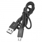 USB Male to Micro USB Male Charging Data Cable for Samsung - Black (100cm)