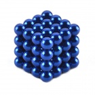 ZB-64 5mm Neodymium Iron DIY Educational Toys Set - Deep Blue (64 PCS)