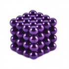 ZT-64 de 5 mm de neodimio hierro DIY juguetes educativos Set - Purple (64 PCS)