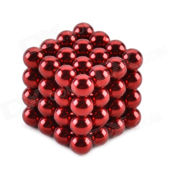 ZQ-64 5mm Neodymium Iron DIY Educational Toys Set - Deep Pink (64 PCS) cheerlink zd 64 5mm neodymium iron diy educational toys set silver 64 pcs