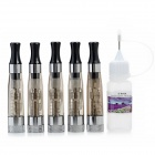 E-POOL CE4S Removable Cleaning Electronic Cigarettes Atomizer - Black + Silver + Brown (5 PCS)