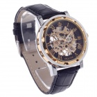ORKINA KC023 Double-Sided Hollow Automatic Mechanical Men's Wrist Watch - Black + Silver + Rose Gold