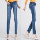 2206 Fashionable Trend Sexy Jeans for Women - Blue (Size: 27)