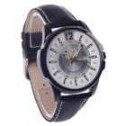 ORKINA W003 Fashionable Men's Analog Quartz Wrist Watch w/ Simple Calendar - Black + White