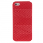 Detachable Wave Pattern Protective Plastic Back Case for iPhone 5 - Red