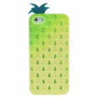 Detachable Pine  Style Protective Silicone + Plastic Back Case for Iphone 5 - Pale Yellow