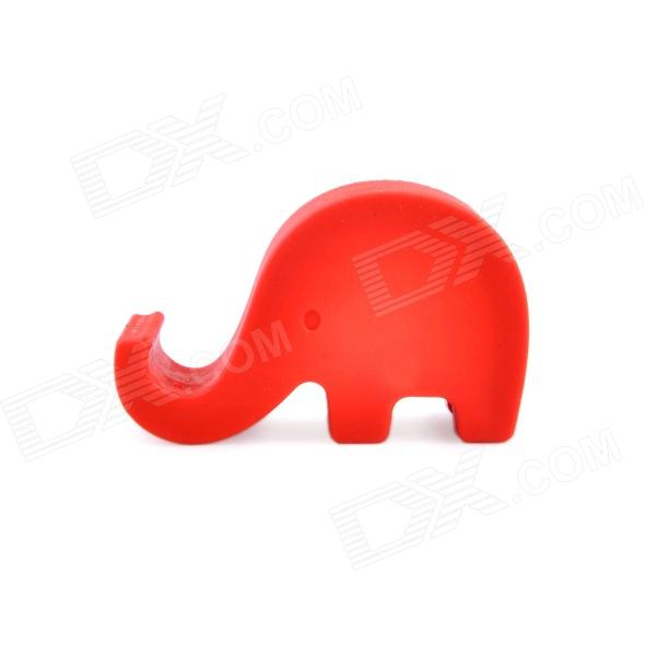 CP-601 Cute Elephant Style Mobile Phone Holder - Red