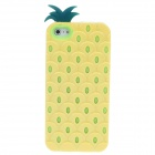 Detachable Pine  Style Protective Silicone + Plastic Back Case for Iphone 5 - Yellow + Green
