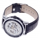 ORKINA KC023 Double-Sided Skeleton Analog Mechanical Men's Wrist Watch - Black + Silver + White