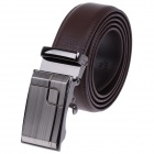 GM508215 Fashion Stone Pattern Leather Belt  w/ Zinc Alloy Automatic Buckle for Men - Brown