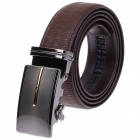 GM509315 Fashion Leather Belt  w/ Zinc Alloy Automatic Buckle for Men - Brown