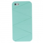 Detachable Wave Pattern Protective Plastic Back Case for iPhone 5 - Green