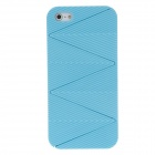 Detachable Wave Pattern Protective Plastic Back Case for Iphone 5 - Blue