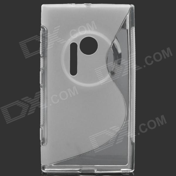 S Style Protective TPU Back Case for Nokia Lumia 1020 - Translucent White s style protective soft tpu back case for nokia lumia 928 translucent grey