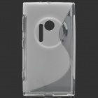 """S"" Style Protective TPU Back Case for Nokia Lumia 1020 - Translucent White"