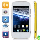 "DOOGEE Collo DG100 MTK6572 Dual-Core Android 4.2.2 WCDMA Bar Phone w/ 4.0"", FM, GPS - White + Yellow"
