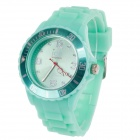 ICE Fashionable Men's Silicone Band Analog Quartz Wrist Watch - Green