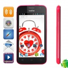 "Vollo Vx98 Quad-Core Android 4.1 WCDMA Bar Phone w / 4,7 "", 4 GB ROM, 1 GB RAM, GPS - Schwarz + Deep Pink"
