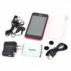 "vollo  Vx98 Quad-Core Android 4.1 WCDMA Bar Phone w/ 4.7"", 4GB ROM, 1GB RAM, GPS - Black + Deep Pink"