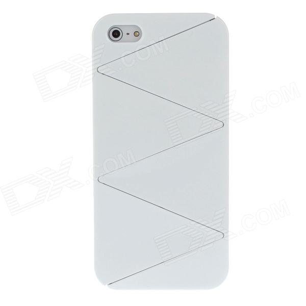 Detachable Crackle Style Protective Plastic Back Case for iPhone 5 - White