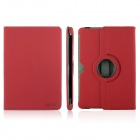 ENKAY ENK-7016 Jean Texture 360 Rotate Protective PU Leather Case Stand for Samsung P5100 - Red