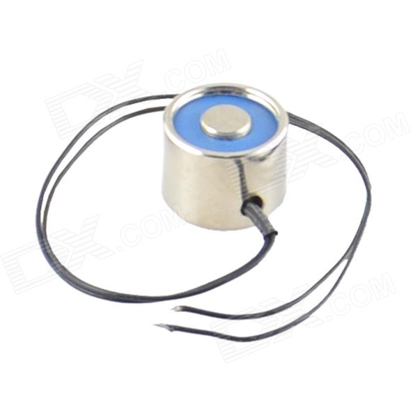 20 x 15mm DC Electro Holding Magnet Attractive force 2.5kg 24V - Black + Blue + Silver (22cm-Cable) holding the line