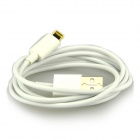DSTE Lighting 8-Pin Male to USB 2.0 Male Data Sync / Charging Cable for iPad 4 / iPhone 5 - White