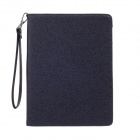Stylish Lichee Pattern Protective PU Leather Case Cover Stand for Ipad 2 / 3 / 4 - Black + Brown
