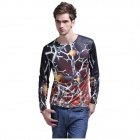 XINGLONG 3D Virus Pattern Long Sleeves T-shirt for Men - Multicolor (Size-L)