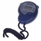 "KTJ TA396 1"" LCD Sports Stopwatch w/ Time / Date / Week Display -  Blue (1 x CR2032)"