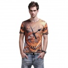 XINGLONG 3D Gear Design Men's Short Sleeve T-shirt - Multicolor (Size L)