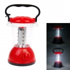 KMS KM-785 1.6W 200lm 6000K 20-LED White Light Rechargeable Hurricane Lamp - Red + Black + Silver