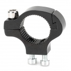 Convenient Durable Aluminum Alloy Water Bottle Bracket Fixing Adapter for Bicycle Handle Bar - Black